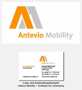 Logo und Visitenkarte - Antevio Mobility