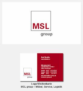Logo und Visitenkarte - MSL, Möbel Service Logistik