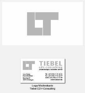 Logo und Visitenkarte - Lutz Tiebel EDV-Consulting