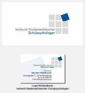 Logo und Visitenkarte - Verband Niedersächsischer Schulpsychologen