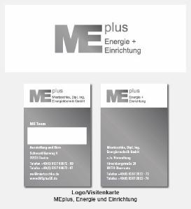 Logo und Visitenkarte - MEplus Energie + Einrichtung, Miertzschke