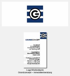 Logo und Visitenkarte - Grundconcept, Grundbestitzvermittlung