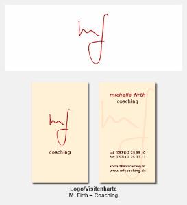 Logo und Visitenkarte - Michelle Firth, Coaching