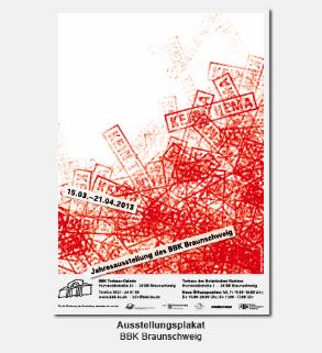 Plakat, Poster - BBK, Bund Bildender Künstler, Jahresausstellung kein Thema