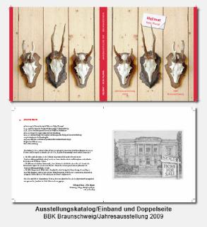 Katalog, Buch, Umschlag, Doppelseite - BBK, Bund Bildender Künstler, Jahresausstellung Heimat