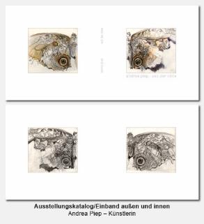 Katalog, Buch, Umschlag außen und innen - Andrea Piep, Künstlerin