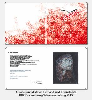 Katalog, Buch, Umschlag, Doppelseite - BBK, Bund Bildender Künstler, Jahresausstellung kein Thema
