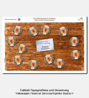 Fußball-Tippspiel für Firmenloge, Idee und Umsetzung - Volkswagen Financial Services