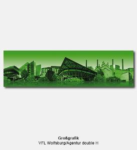 Großgrafik - VFL Wolfsburg, Agentur double H