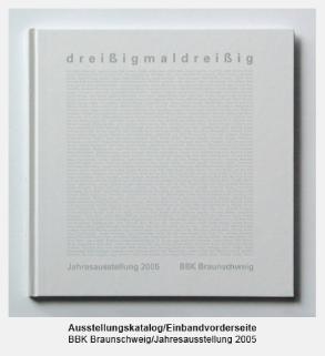 Katalog, Buch, Einbandvorderseite - BBK, Bund Bildender Künstler, Jahresausstellung dreißigmaldreißig