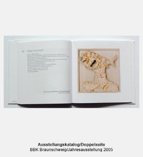 Katalog, Buch, Doppelseite - BBK, Bund Bildender Künstler, Jahresausstellung dreißigmaldreißig
