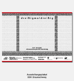 Plakat, Poster - BBK, Bund Bildender Künstler, Jahresausstellung dreißigmaldreißig