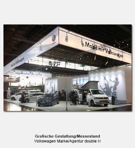 grafische Gestaltung Messestand - Volkswagen Marke, Agentur double H