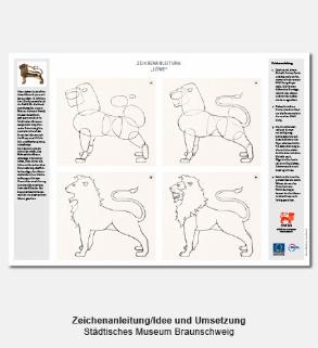 Didaktischer Bastelbogen, Zeichenanleitung - Städtisches Museum Braunschweig