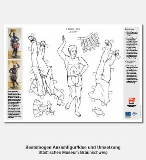 Didaktischer Bastelbogen, Anziehfigur - Städtisches Museum Braunschweig