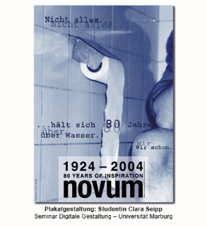 Plakatgestaltung: Studentin Clara Seipp – Seminar Digitale Gestaltung, Universität Marburg