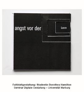 Karnagel Faltblattgestaltung Hamilton Marburg